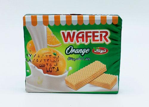ويفر پذيرايي25گرمی پرتقال